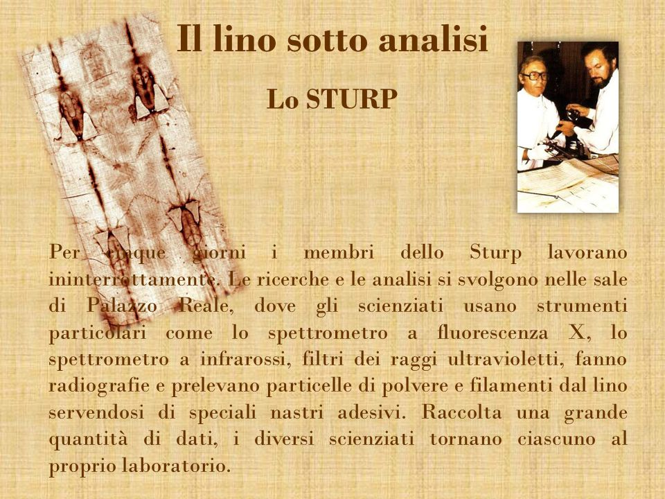 Il lino sotto analisi Lo STURP
