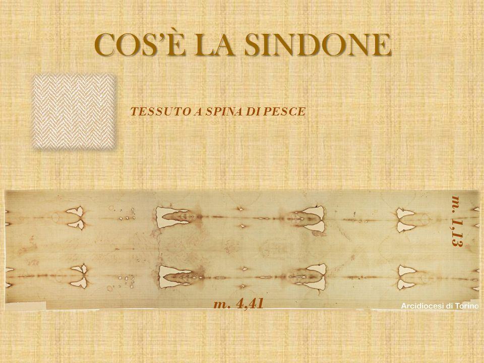 COS'È LA SINDONE TESSUTO A SPINA DI PESCE m. 1,13 m. 4,41