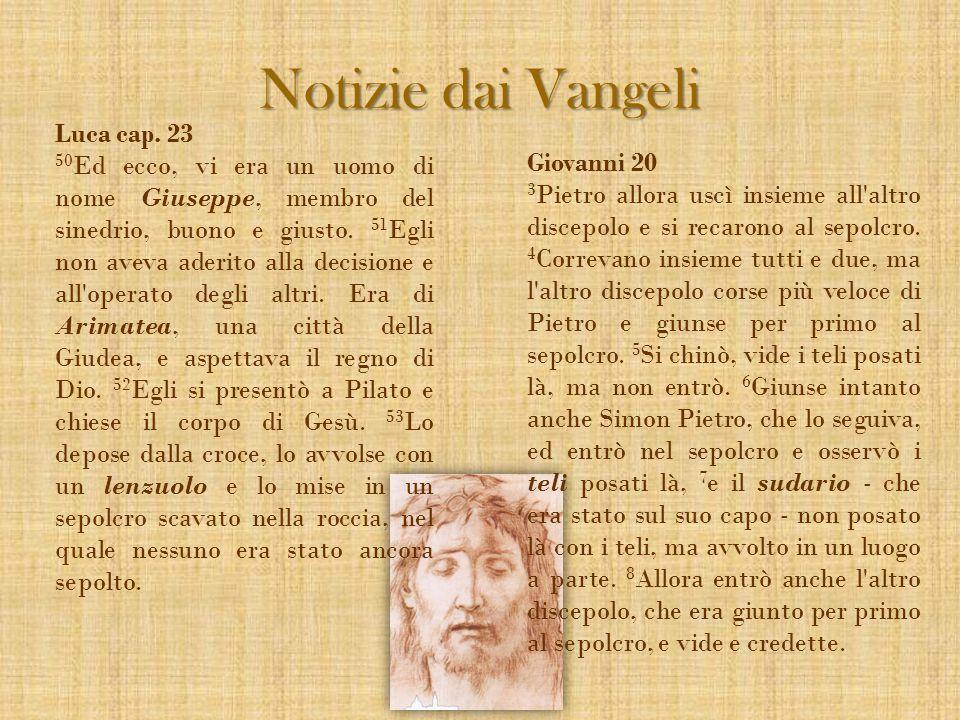 Notizie dai Vangeli Luca cap. 23