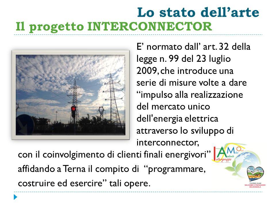 Lo stato dell'arte Il progetto INTERCONNECTOR