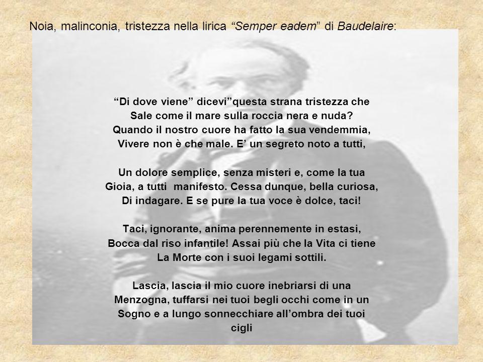 Noia, malinconia, tristezza nella lirica Semper eadem di Baudelaire: