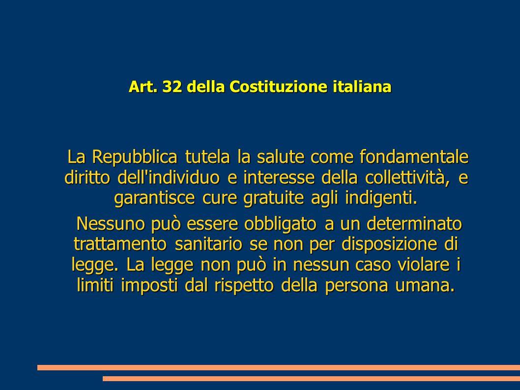 Art. 32 della Costituzione italiana