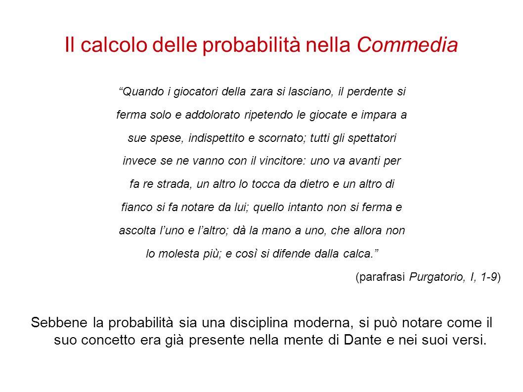 Il calcolo delle probabilità nella Commedia