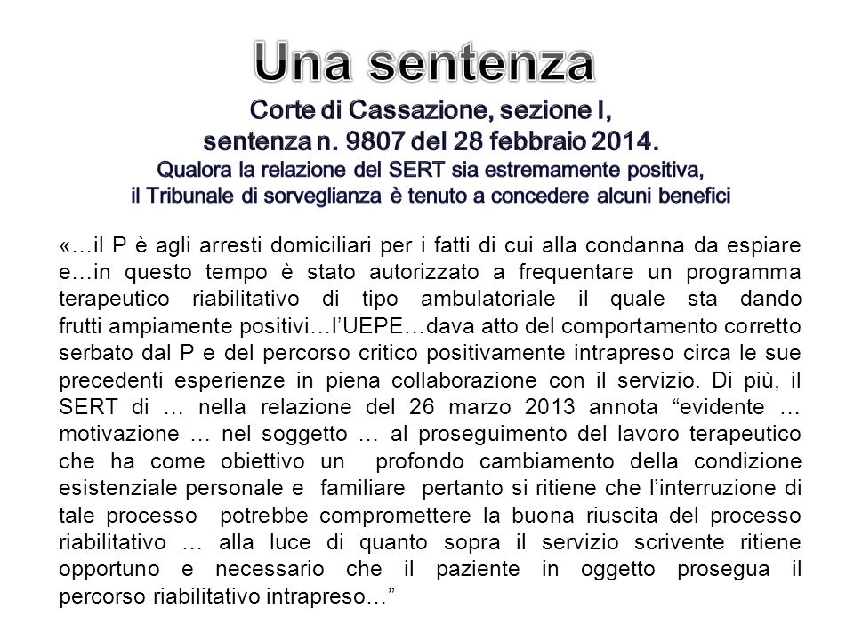 Corte di Cassazione, sezione I, sentenza n. 9807 del 28 febbraio 2014.