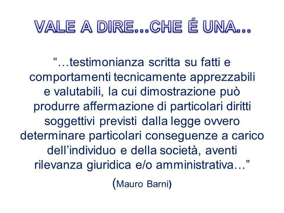 VALE A DIRE…CHE É UNA… (Mauro Barni)