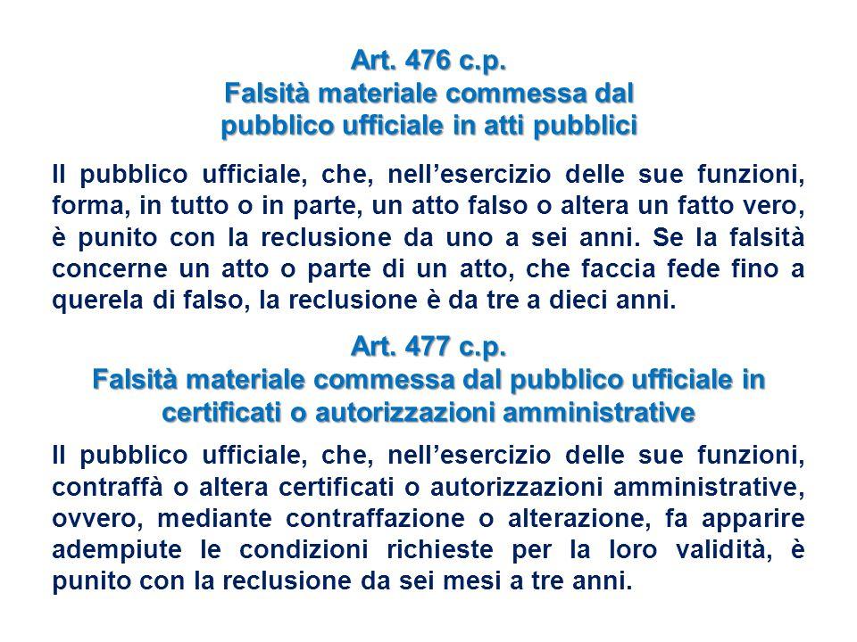 Falsità materiale commessa dal pubblico ufficiale in atti pubblici