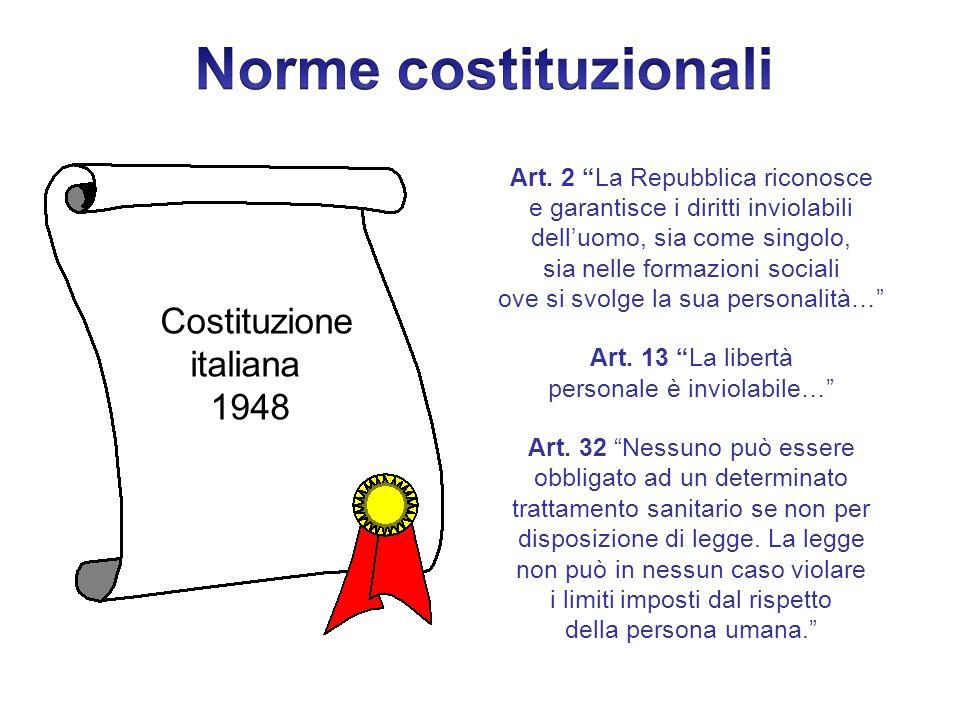 Norme costituzionali italiana 1948 Costituzione
