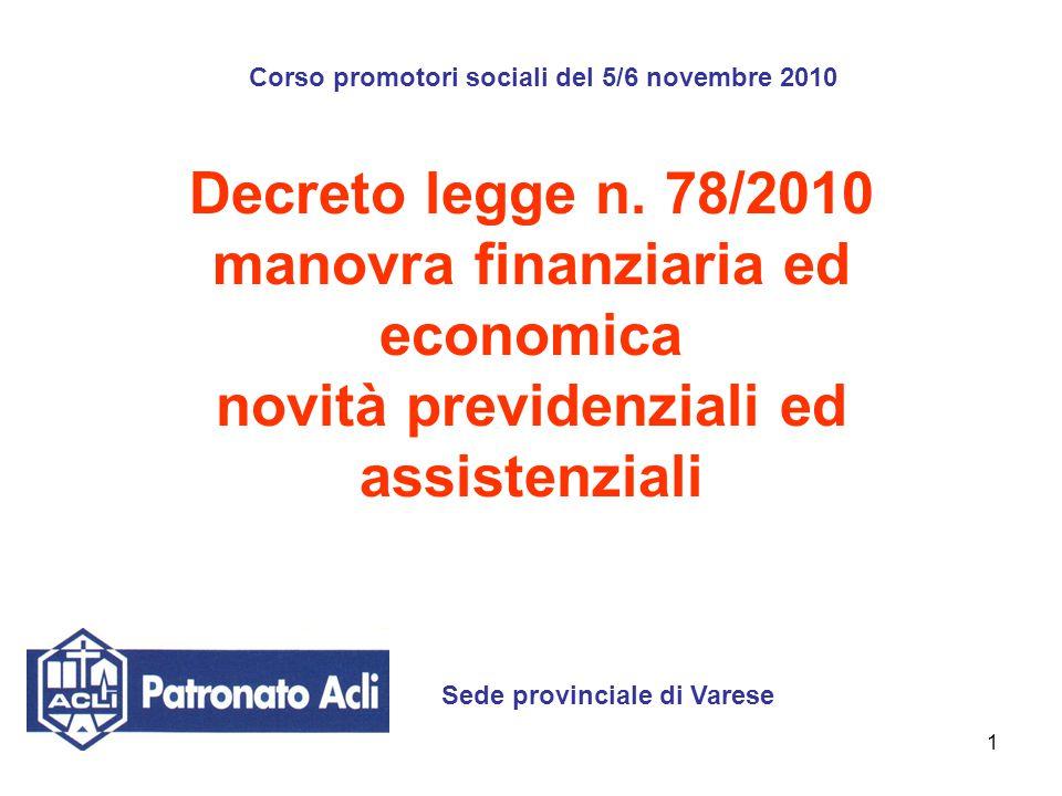 Corso promotori sociali del 5/6 novembre 2010