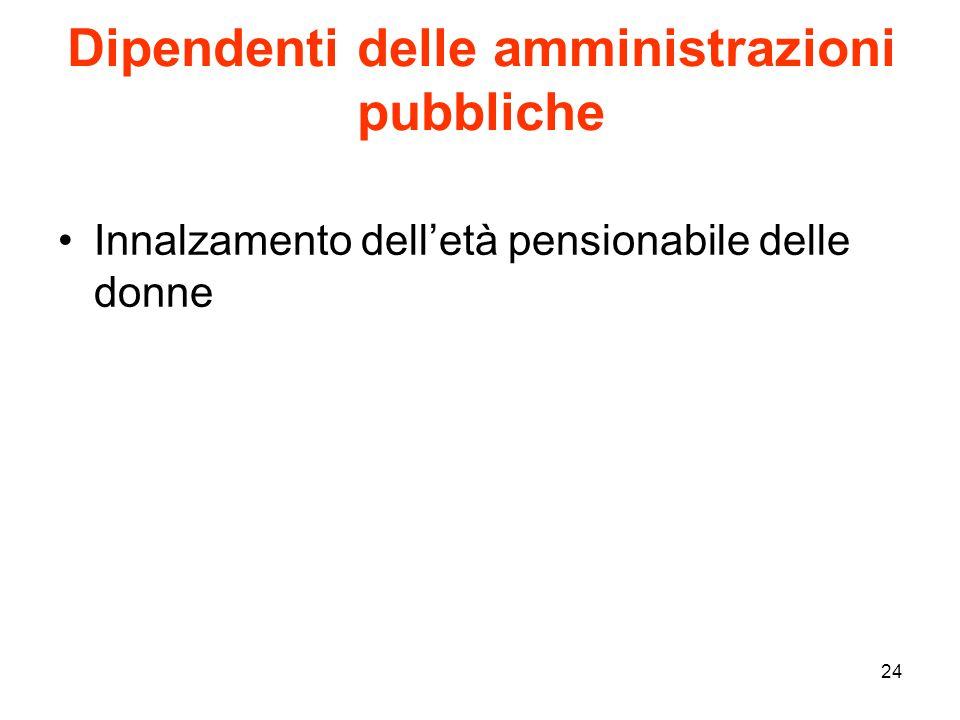 Dipendenti delle amministrazioni pubbliche