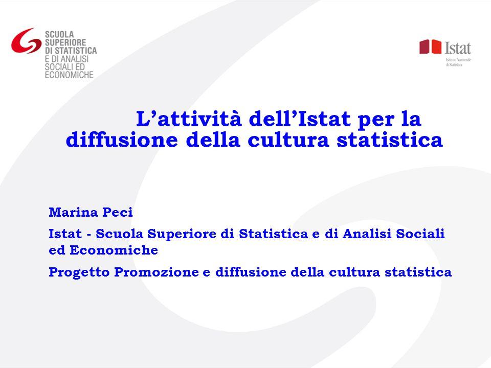 L'attività dell'Istat per la diffusione della cultura statistica