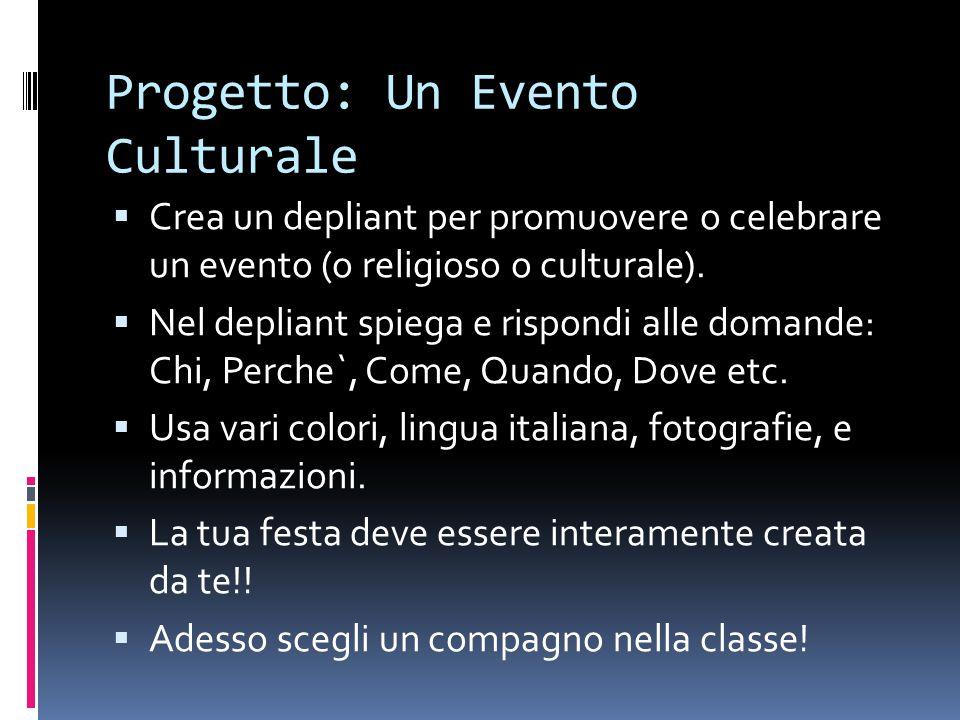 Progetto: Un Evento Culturale