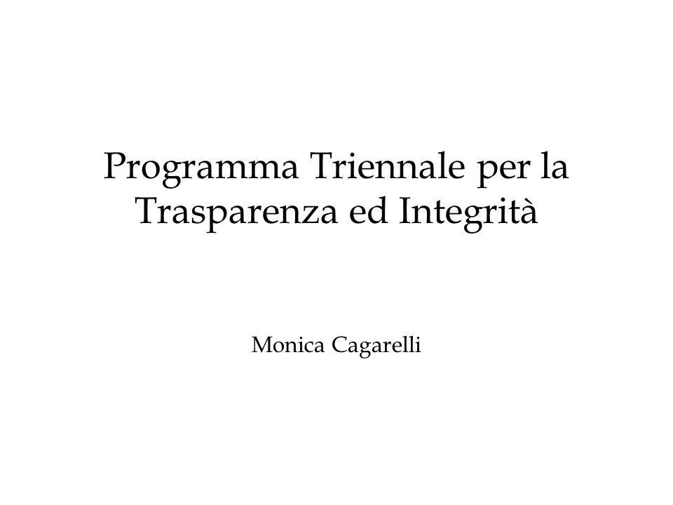 Programma Triennale per la Trasparenza ed Integrità