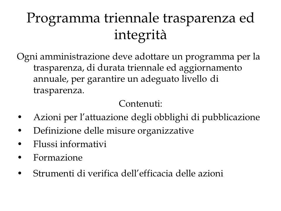 Programma triennale trasparenza ed integrità