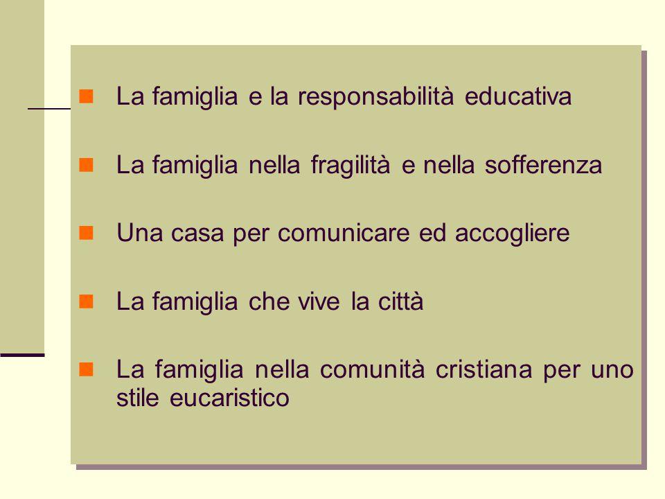 La famiglia e la responsabilità educativa