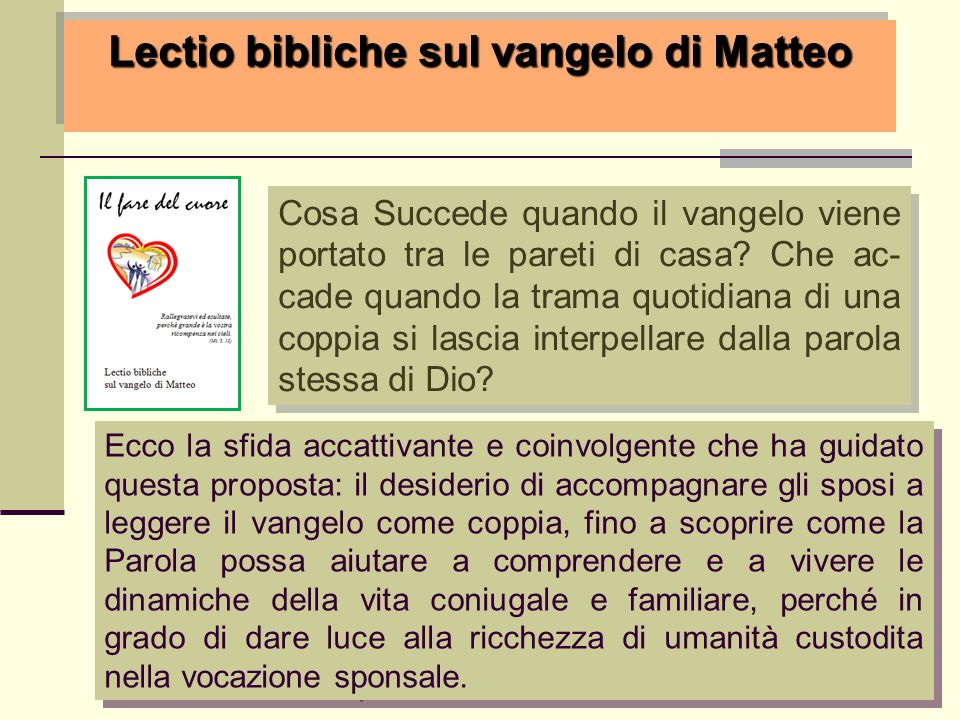 Lectio bibliche sul vangelo di Matteo