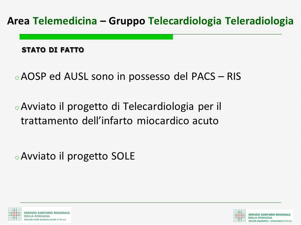 Area Telemedicina – Gruppo Telecardiologia Teleradiologia