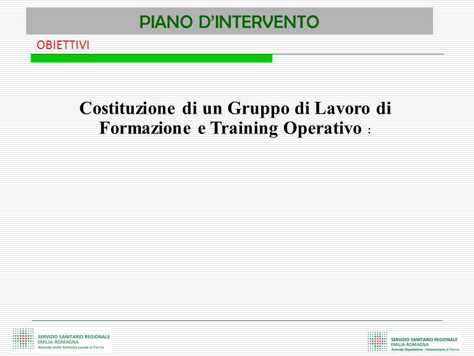 PIANO D'INTERVENTO OBIETTIVI.