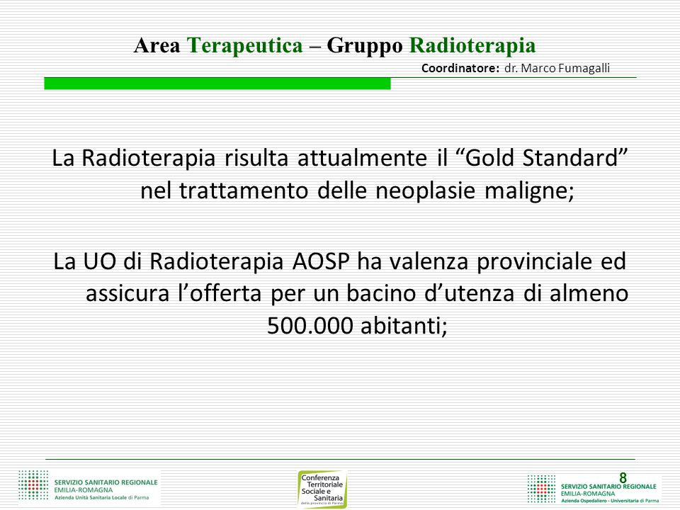 Area Terapeutica – Gruppo Radioterapia