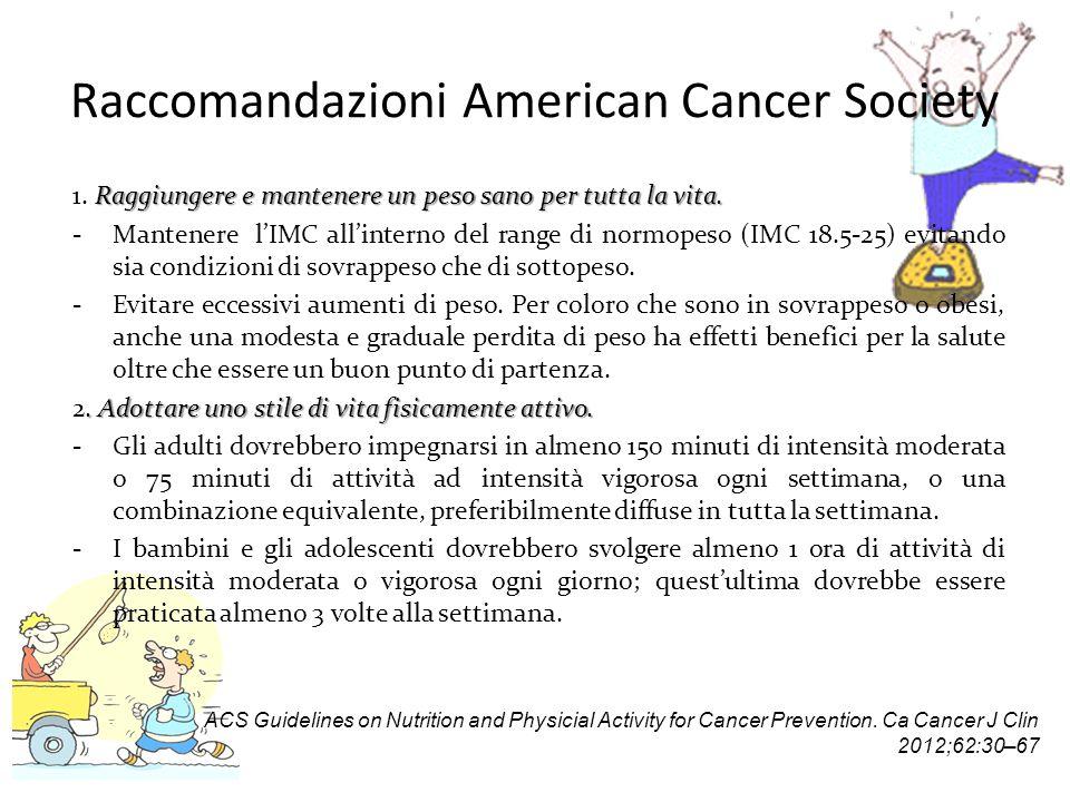 Raccomandazioni American Cancer Society