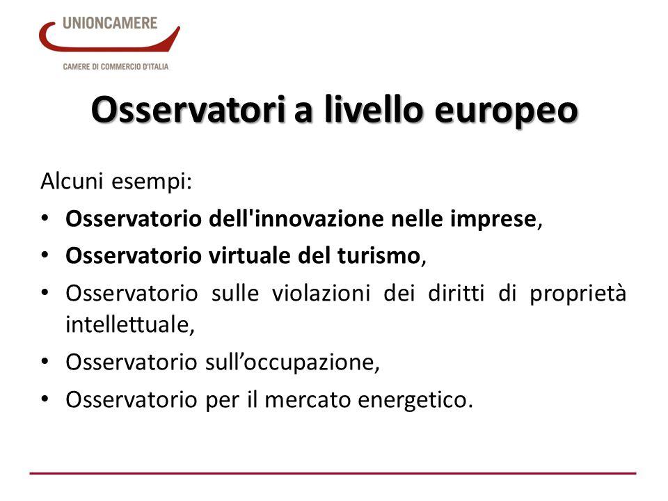Osservatori a livello europeo
