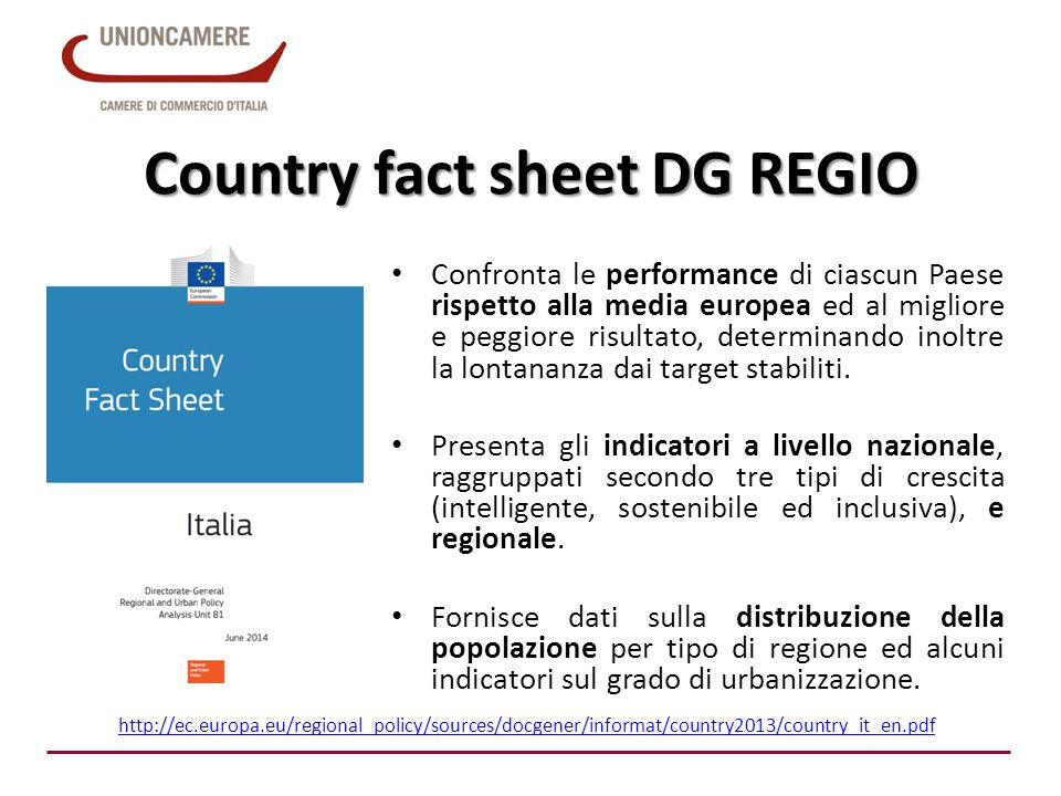 Country fact sheet DG REGIO