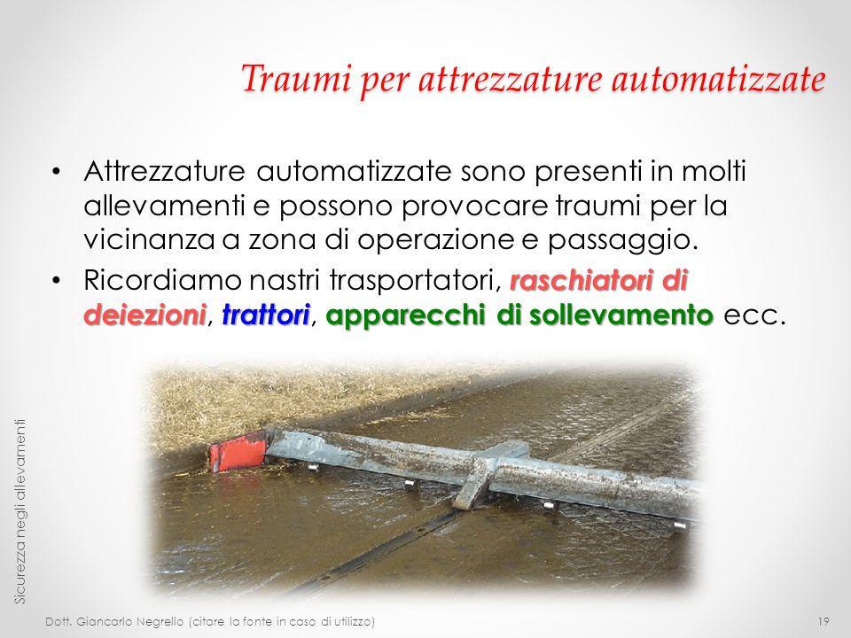 Traumi per attrezzature automatizzate