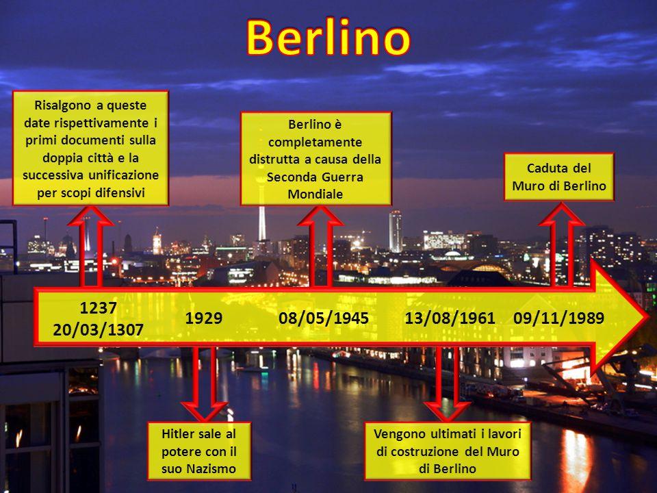Berlino Risalgono a queste date rispettivamente i primi documenti sulla doppia città e la successiva unificazione per scopi difensivi.