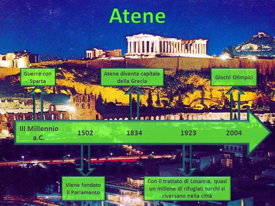 Atene diventa capitale della Grecia Viene fondato il Parlamento
