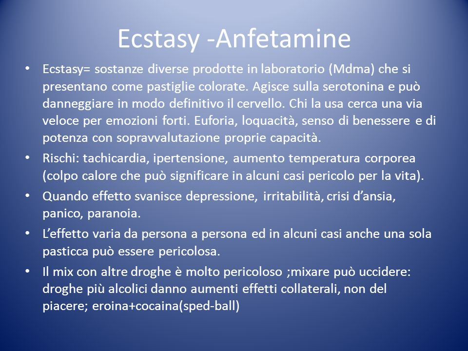 Ecstasy -Anfetamine