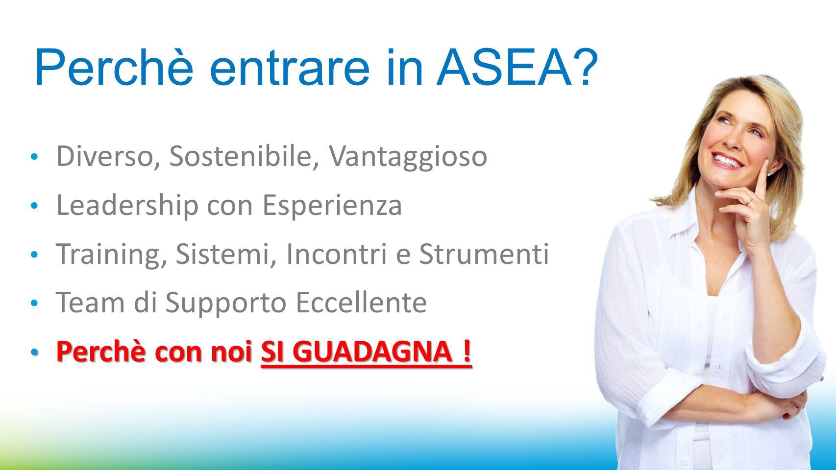 Perchè entrare in ASEA Diverso, Sostenibile, Vantaggioso