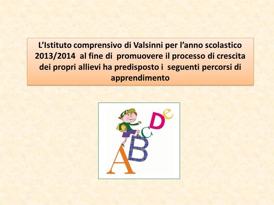 L'Istituto comprensivo di Valsinni per l'anno scolastico 2013/2014 al fine di promuovere il processo di crescita dei propri allievi ha predisposto i seguenti percorsi di apprendimento