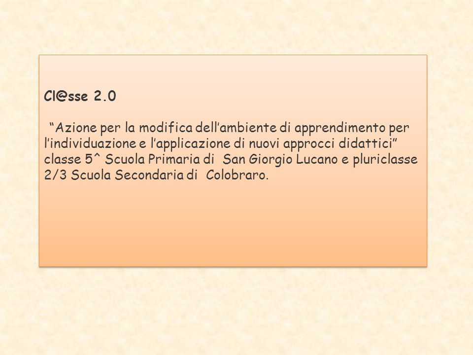 Cl@sse 2.0