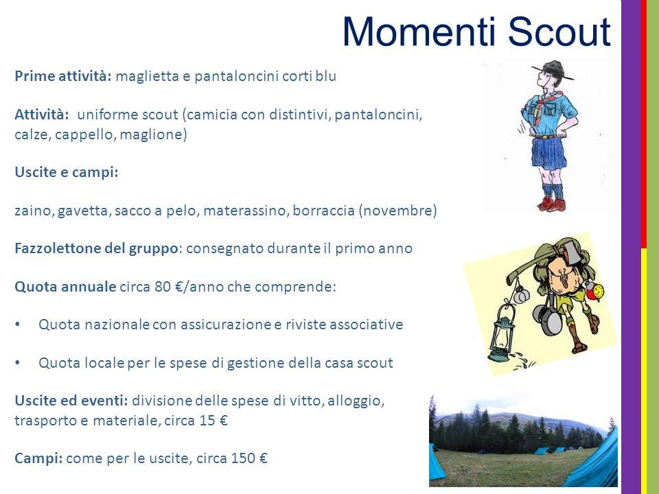 Momenti Scout Prime attività: maglietta e pantaloncini corti blu