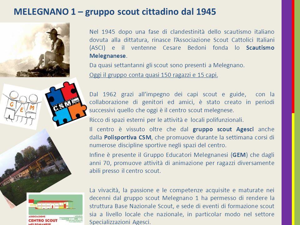 MELEGNANO 1 – gruppo scout cittadino dal 1945