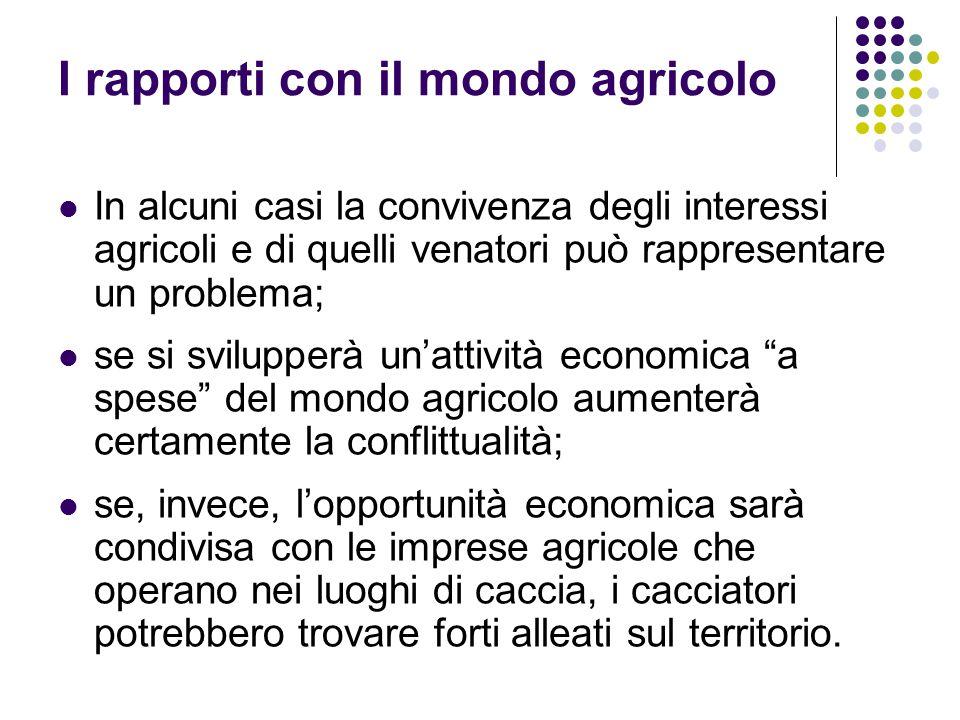 I rapporti con il mondo agricolo