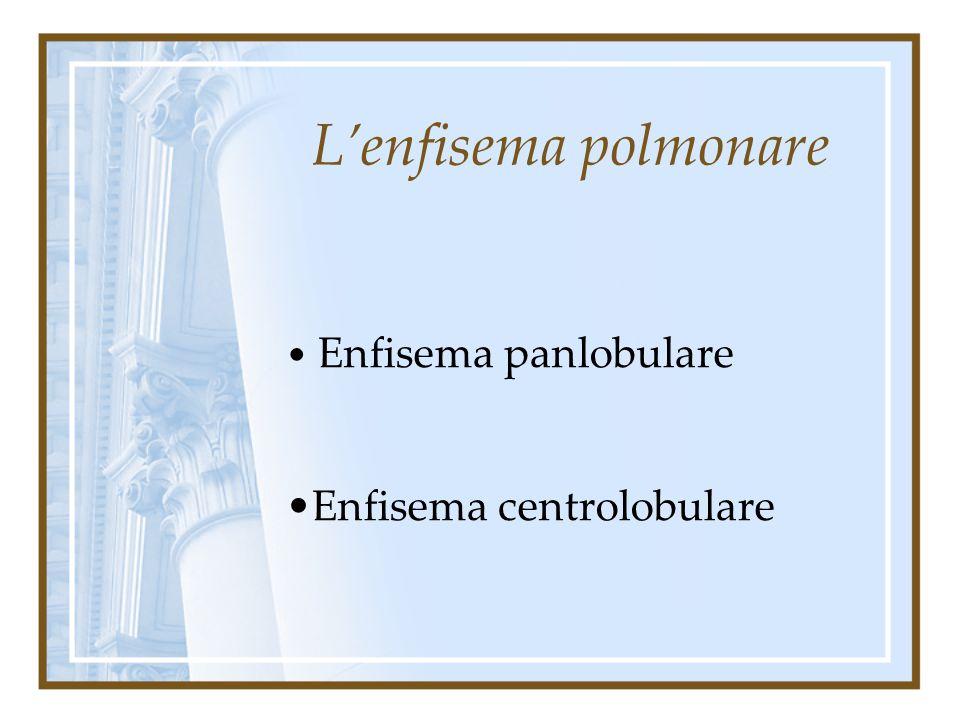 Enfisema panlobulare Enfisema centrolobulare