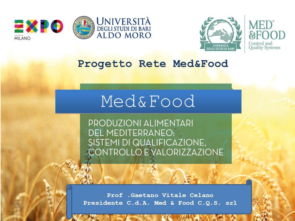 Med&Food Progetto Rete Med&Food Prof .Gaetano Vitale Celano