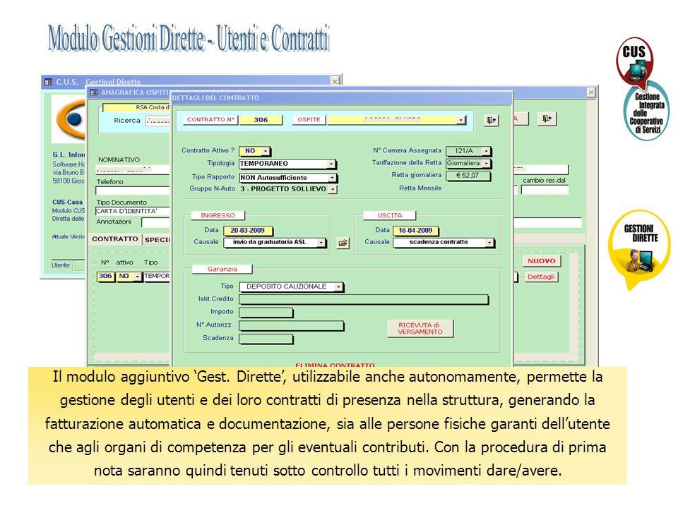 Modulo Gestioni Dirette - Utenti e Contratti
