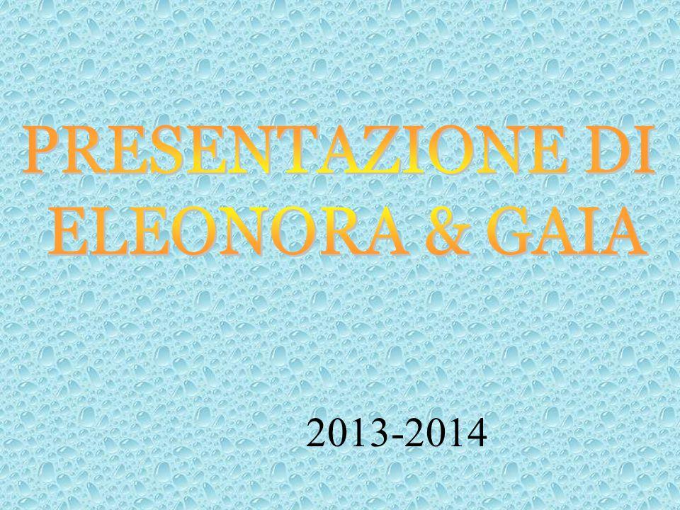 PRESENTAZIONE DI ELEONORA & GAIA 2013-2014
