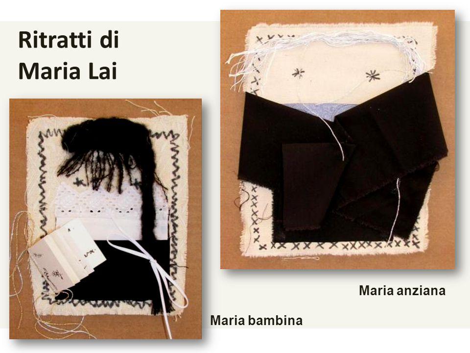 Ritratti di Maria Lai Maria anziana Maria bambina