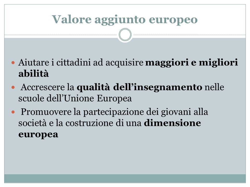 Valore aggiunto europeo
