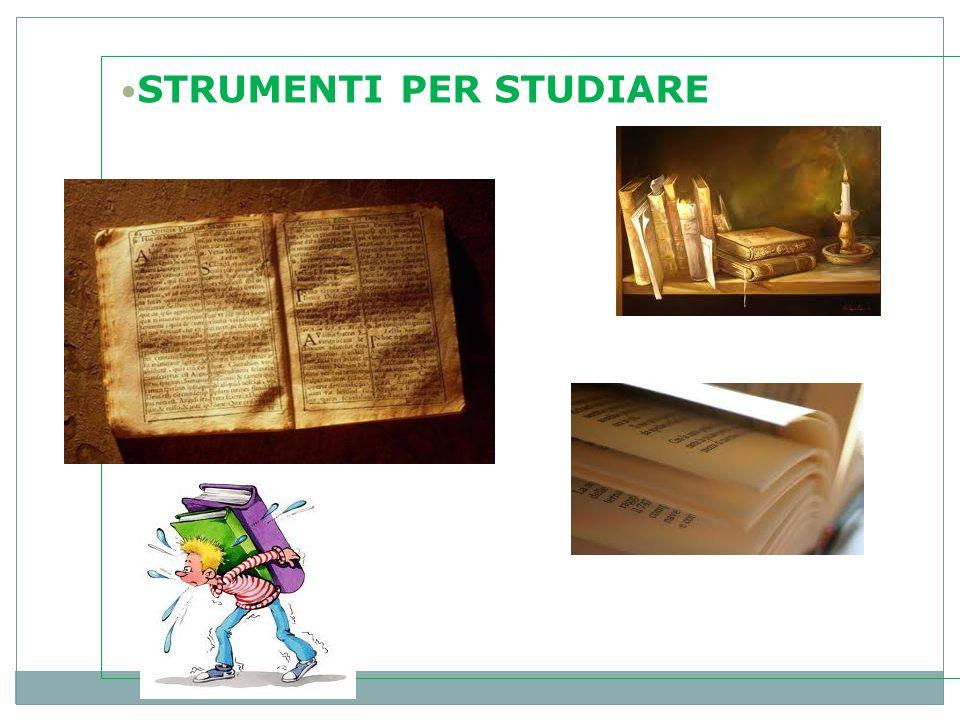 STRUMENTI PER STUDIARE