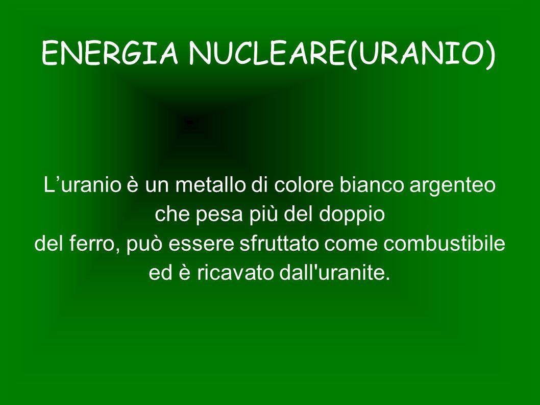 ENERGIA NUCLEARE(URANIO)