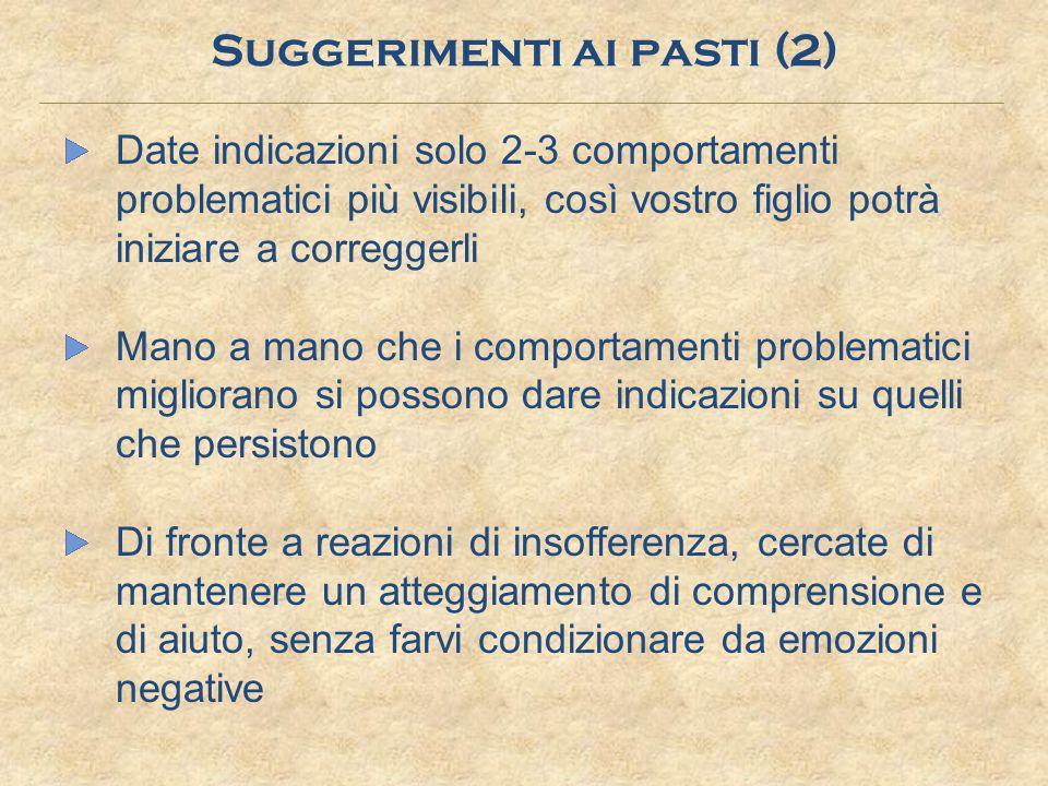 Suggerimenti ai pasti (2)