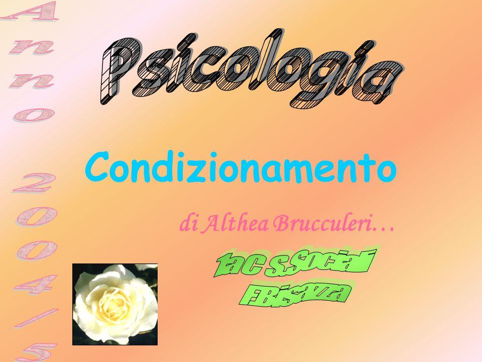 Condizionamento Psicologia Anno 2004/5 1a C S.Sociali F.Bisazza