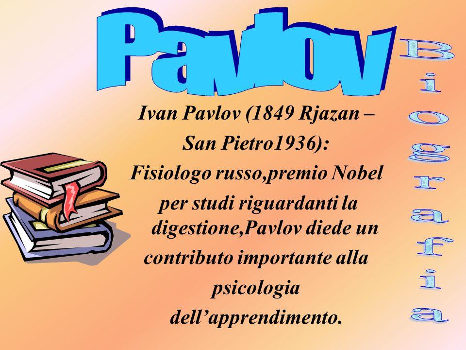 Pavlov Biografia Ivan Pavlov (1849 Rjazan – San Pietro1936):