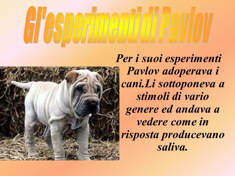 Gl esperimenti di Pavlov