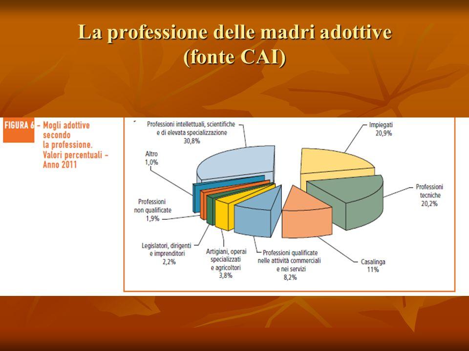 La professione delle madri adottive (fonte CAI)