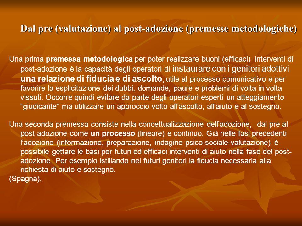 Dal pre (valutazione) al post-adozione (premesse metodologiche)