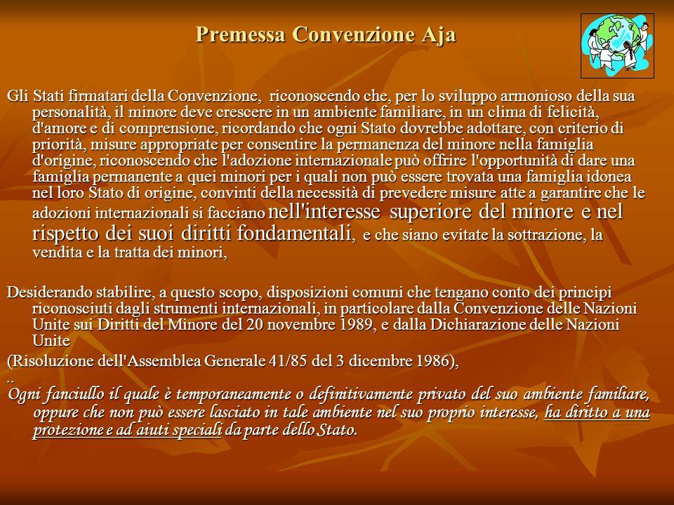 Premessa Convenzione Aja